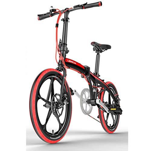 WPOV-A 20-Zoll-Faltrad Light Light Work Tragbares Mountainbike Für Erwachsene Mit Variabler Geschwindigkeit0624-Z(Color:rot)