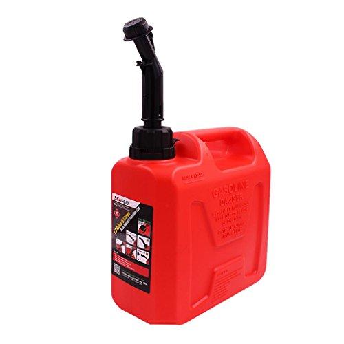 Baoblaze pour SEAFLO éteindre L'essence Peut Rouge 1.3 Gallon 5 litres Réservoir De Gaz