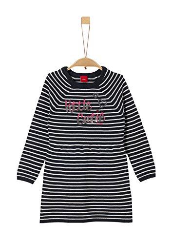 s.Oliver RED Label Mädchen Gestreiftes Strickkleid mit Pailletten Blue Stripes 128.REG
