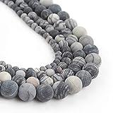 Song Xi 10mm Matte Black Web Jasper Beads Natural Loose Gemstone for Jewelry Making