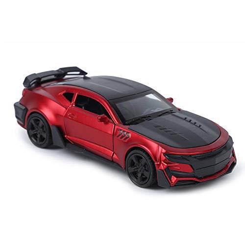 1:32 Escala Tire hacia atrás Vehículo, Aleación Sonido Luz Modelo de Coche Niños Estimulación Vehículo Juguete para niños Regalos de cumpleaños(Rojo Mate)