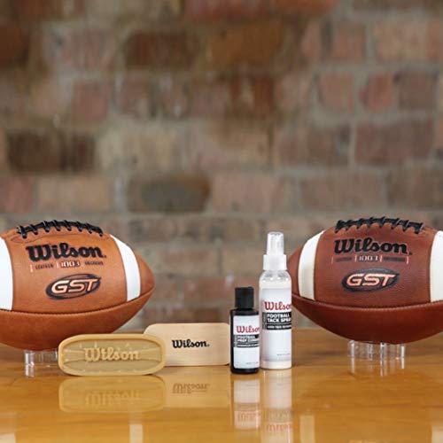 Wilson American Football Care Set, Brush and Hard Wax Block, WTF992700