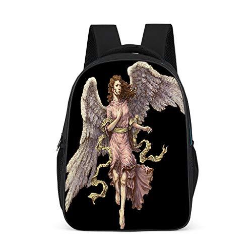 QVOOD Kinderrucksack Schulrucksack Weiblicher Engel Kinder Rucksack Kindergartentasche Kindergartenrucksack Atmungsaktiv Büchertasche für Kinder Grey l32*w18*h42cm