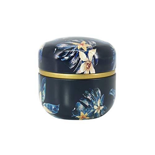 R-WEICHONG - Tetera de metal con forma de pétalos de flores, para guardar té y café, forma redonda