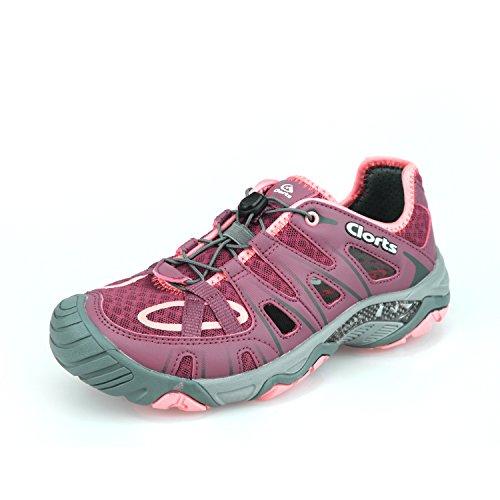 Water Shoe Quick Drying Sport Hiking Water Sandal SLLOOP Clorts Women's Amphibious Athletic 3H025, Purple, 9 B(M) US