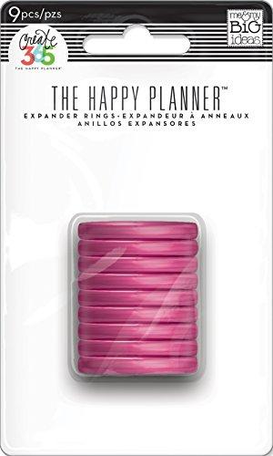 Me and My Big Ideas - Anelli di espansione per agenda da 365 giorni, da 3,2 cm, colore: trasparente e rosa acceso, multicolore