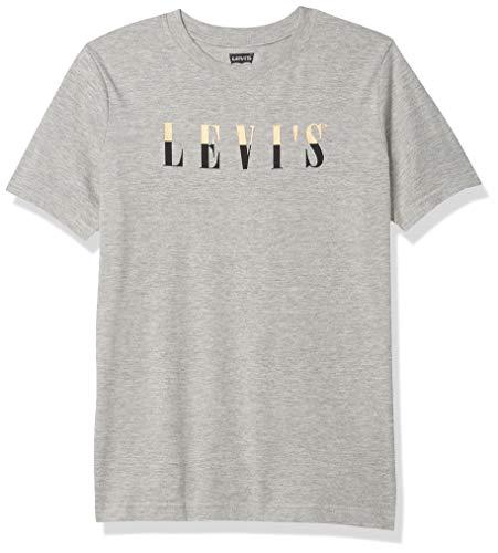 Levi's 71B980-306 - Camiseta con logo gráfico 3T, color gris y dorado