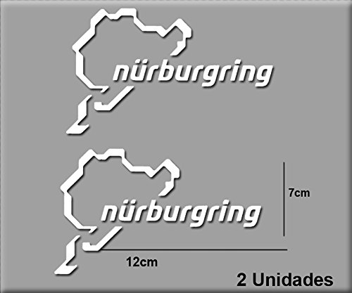 Ecoshirt EV-2DP3-RI46 Aufkleber Nürburgring R82 Vinyl Aufkleber Decal Sticker Decal Decal Sticker Car Auto Sport Racing weiß