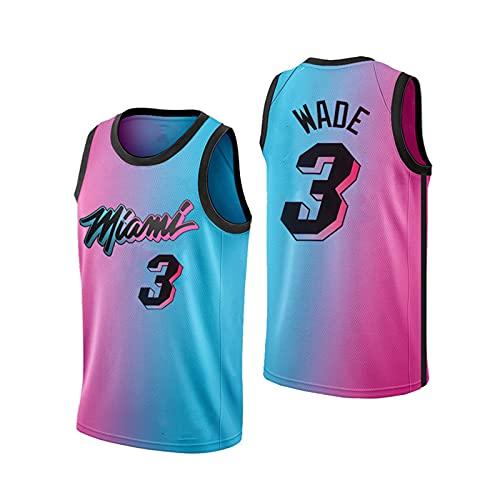 GFQTTY Camiseta De Baloncesto para Hombre De La NBA Miami Heat 3# Camiseta, Ropa De Entrenamiento De Baloncesto, Deportiva Y Chaleco Informal con Mangas De Ventilación De Secado Rápido