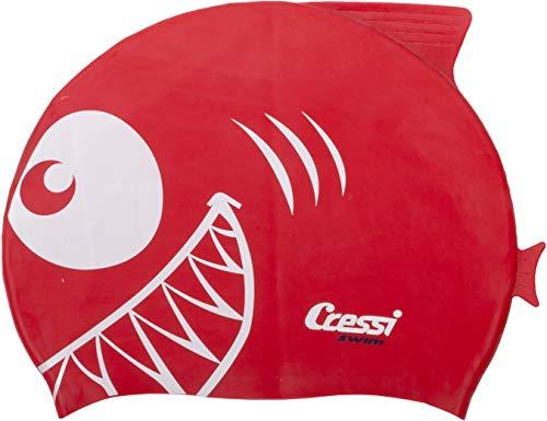 Cressi Silicone Kids Cap Shark Gorro de Baño, Unisex niños, Rojo, Uni