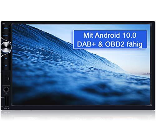 Tristan Auron BT2D7025A Android 10.0 Autoradio mit Navi - 7'' Touchscreen GPS Bluetooth Freisprecheinrichtung Quad Core WiFi USB SD I OBD 2 DAB+ 2 DIN