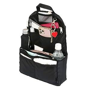 Y-Style 収納力がすごい!バッグインリュック 全15ポケット A4 ノートPC 保冷ポケット 軽量 自立 クッション素材 ナスカン付き
