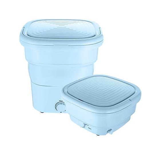 Mini lavadoras portátiles y plegables, con tubo de drenaje, automáticas, para viajes en casa, viajes, viajes, ropa interior, lavadora plegable para viajes de negocios (110 V/240...
