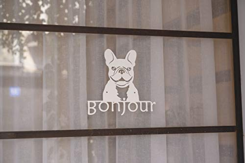 METAL WALL ART FRENCH BULLDOG WELCOME SIGN FOR INSIDE OR OUTSIDE ESAY TO HANG DURABLE & CUTE - ARIEL METAL DESIGN