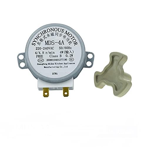 ZXC MDS-4A AC220-240V 4/4.8RPM Micro Turnato Giratorio Bandeja síncrona Motor Microondas Accesorios de Horno Repuestos Repuestos Core Acoplamiento Embrague