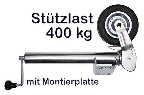 Otger Lensker PKW Anhänger Stützrad Automatik Wohnwagen Stützrad Trailer Bugrad Hänger Stützrad Stahlfelge klappbar Klapp Rad