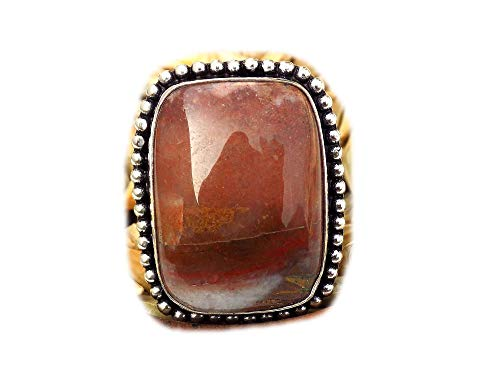 The Best Jewellery Crazy Lace Agate Ring, Silver Plated Ring, Handmade Ring, Women Jewelry, (Size- 7.25 USA) BRS-10044