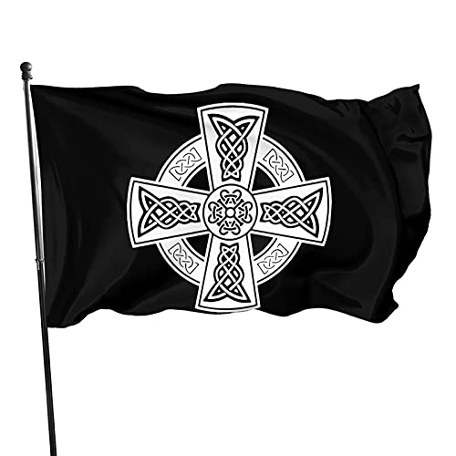 Yilimi Hui Celtic Cross Ancient Celtic Symbols Double Sided Printing 3x5 Foot Flag Outdoor Double Sided 3x5 Ft Flags Best Military Flag is Not Damaged Durable