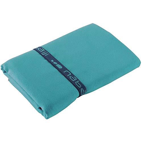 Nabaiji Mikrofaser Handtuch Blau L Reisen Sport Schwimmen Wandern Schnelltrocknende Tücher aus Mikrofaser Ultra-leicht Strand/Gymnastik/Superabsorbierende Handtücher 80 × 130 cm