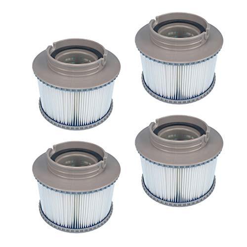 Fenteer 4 Filterpatronen Schwimmbäder, MSPA Filterpatrone Pool Filterkartusche Patronen Sieb Whirlpools Ersatz Filter Für Aufblasbaren Zubehör Outdoor