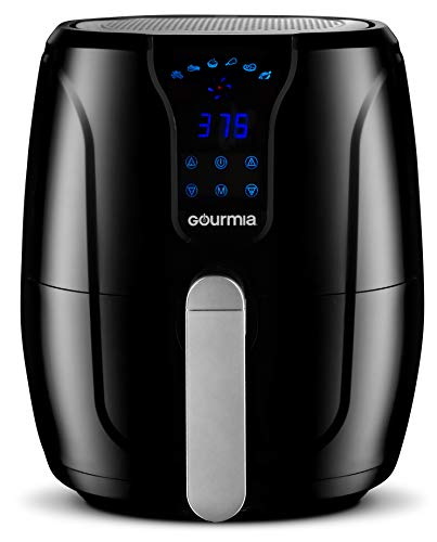 Gourmia GAF328 Digital Air Fryer - Oil-Free Healthy Cooking - 3.5-Quart Capacity - 6 Preset Cook Modes - Removable, Dishwasher-Safe Tray - Free Recipe Book Included