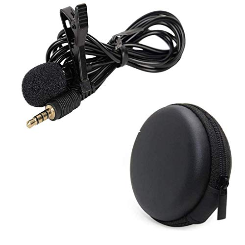 iCall name of trust Mini Coller Microphone Voice Recording Filter Mic with Multi Purpose Pocket for Recording Singing YouTube, on Smartphones (Black)