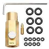 porfeet Conector Adaptador de CO2 Hogar Botella de Soda Cilindro Fabricante de Soda Kit de Conexión de Tanque TR21-4 a CGA320/W21.8 CGA320