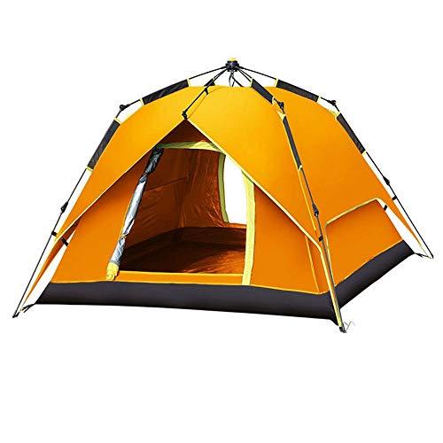 Tienda de campaña Tienda de campaña del Festival con tecnología de Dormitorio Blackout, Festival Essential, 100% Impermeable con Cosido en la Planta Baja (Color : Orange)