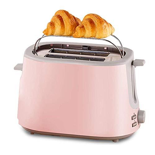 Huishoudelijke Toaster, Compact Broodrooster, Huis 2 delig ontbijt RVS Roasting Spit Driver met verborgen Grill Huis Must-Have Broodrooster, Pink