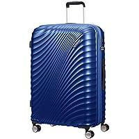 American Tourister Jetglam Spinner L Expandible Maleta, 77 cm, 109 L, Azul (Metallic Blue)