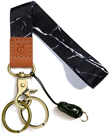 Wrist Lanyards Key Chain Holder Premium Quality Wristlet Lanyard Keychain for Men Women Black product image