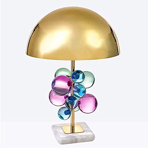 Post-moderne creatieve kleur Crystal Wafer bolvormige Designer E27 tafellamp Model kamer High-End woonkamer slaapkamer tafellamp
