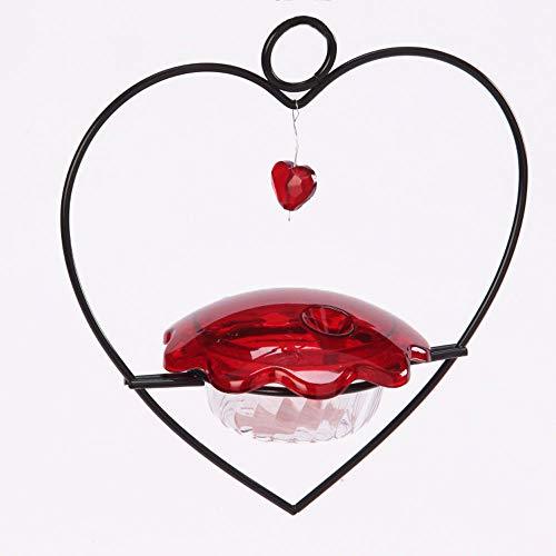 Birds Choice HHF Alimentador para beija-flor coração, 85 g, vermelho