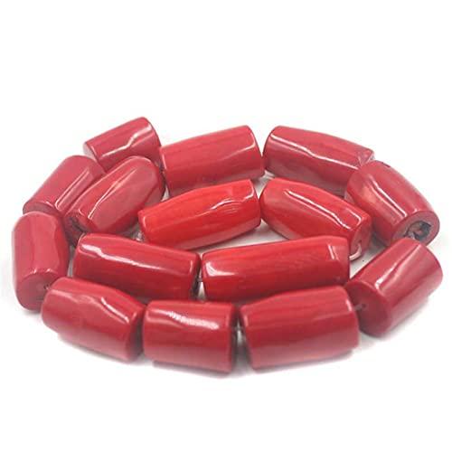 Cuerpos sueltos grandes de coral rojo natural 15 pulgadas alrededor de 14 a 16 mm