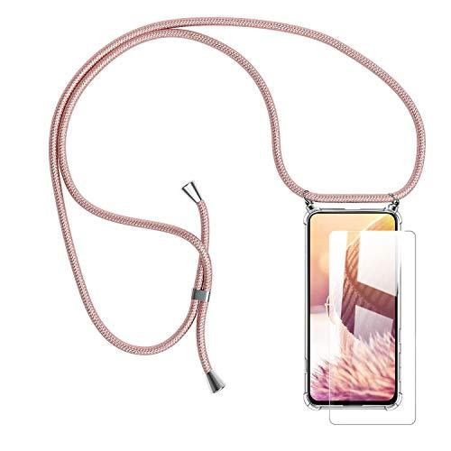 Handykette Handyhülle mit Band für Samsung Galaxy A80 Cover - Handy-Kette Handy Hülle mit Kordel Umhängen -Handy Halsband Lanyard Hülle/Handy Band Halsband Necklace