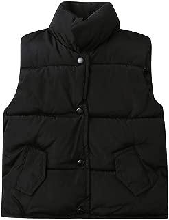 Boys Girls Jacket Lightweight Down Vest Puffer High Neck Waistcoat Keep Warm Coat