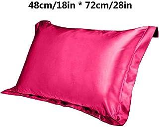 YYBF Seda única Color Puro Funda de Almohada Cuadrada formada cómoda para Dormir Dormitorio Almohadas Suaves 48cmx74cm 1pc H