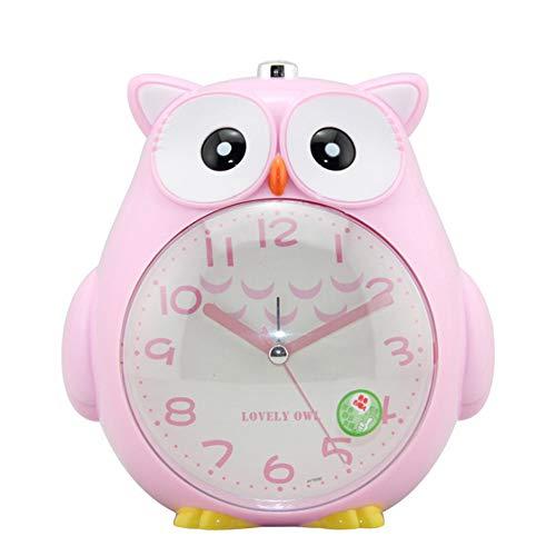 Reloj despertador, reloj de cuarzo con indicaciones de voz, reloj despertador de búho para niños con luz de despertador, reloj despertador de búho para niños, reloj silencioso de búho de dibujos