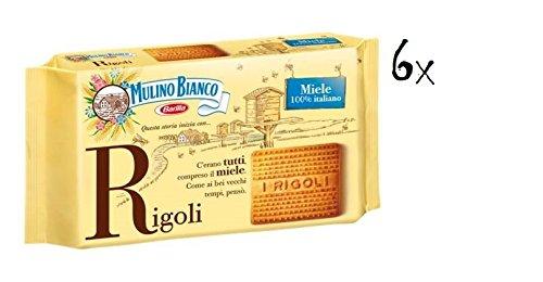 6x Mulino Bianco Kekse mit Honig Rigoli 400g Kuchen Butterkeks cookies brioche