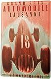Fluse Poster Car Lausanne Race Vintage Metal Art Chic Retro