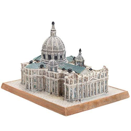 LIBOYUJU Decoración arquitectónica/Modelo arquitectónico de la Catedral de San Pedro/Ornamentos creativos de artesanías de Resina/Regalos de Recuerdo