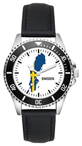 Schweden Geschenk Artikel Idee Fan Uhr L-1102