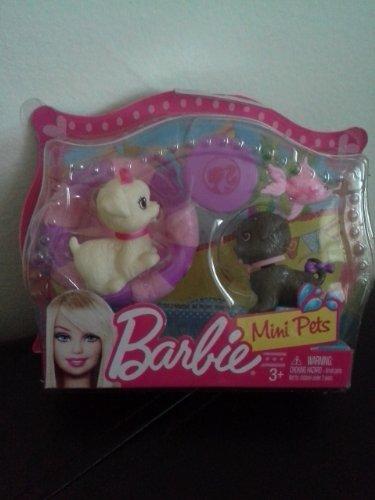 Mattel - Barbie mini pets - perritos con frisbee y flotador