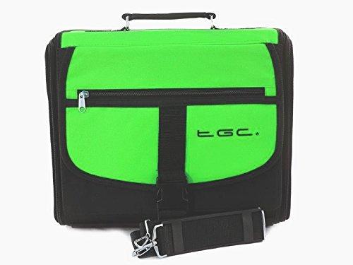 XBOX 360Slim verde y negro bolsa de transporte para consola/funda. También para uso de coche.