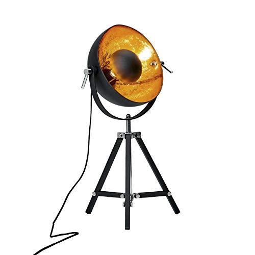 Butlers SATELLIGHT Tischleuchte - Lampe im Retro-Design - ideale Innenraum Beleuchtung - Industrial Look für Ihr Schlaf- und Wohnzimmer