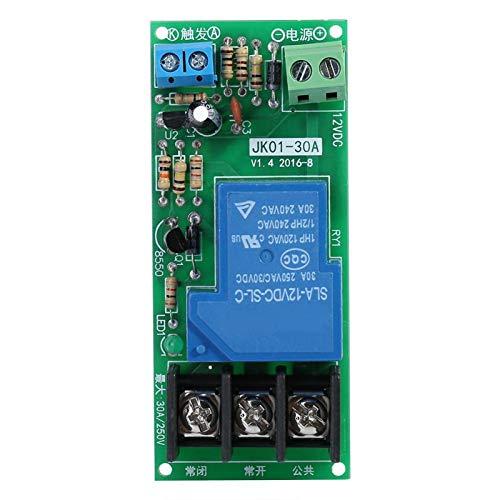 Módulo de relé de temporizador, módulo de interruptor de temporizador de 0~60 minutos, para modificación de retardo de iluminación del equipo de funcionamiento del temporizador