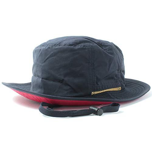 (撥水 手洗いOK)BASIQUENTI サファリハット Teflon Safari Hat 男女兼用 フリーサイズ ネイビー(裏:レ...