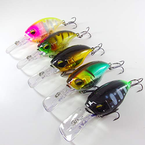 Momolures - Señuelo de pesca con manivela para bajo lucio Zander SR-X, Wiggle - Surtido 02
