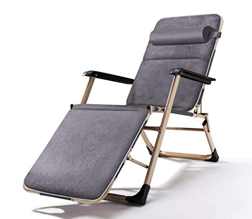 DAGCOT Beach Chair Adjustable Folding Chair Recliner Lunch Rocking Chair Folding Bed Outdoor Portable Camp Bed Chairs Office Chairs,03