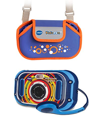 Vtech KidiZoom Touch 5.0 80-163594 - Cámara Infantil (Incluye Bolsa de Transporte), Color Azul